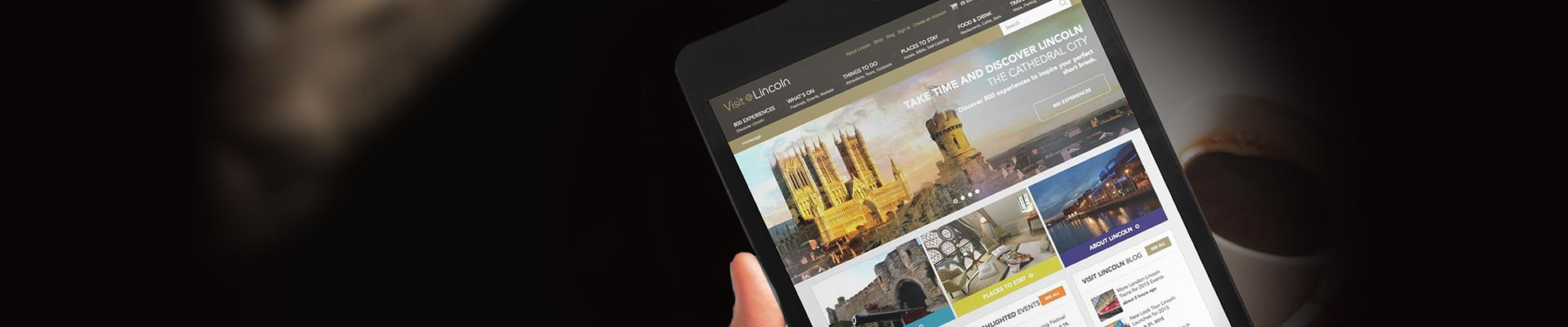 Website design for Lincoln tourism. Discover how we help raise the profile of the historic city of Lincoln