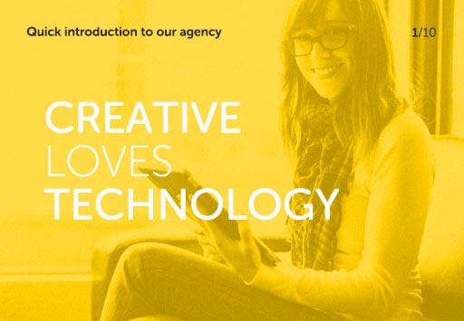 Quick introduction to our agency - Creative Loves Technology